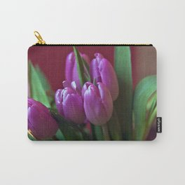 Pink Tulip Poetry Carry-All Pouch