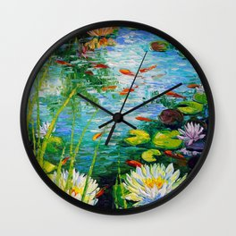 Mesmerizing pond Wall Clock