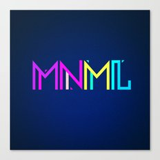 Minimal Type (Colorful Edm) Typography - Design Canvas Print
