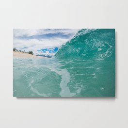 Giant Wall of Water Metal Print