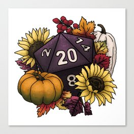 Harvest D20 - Autumn Tabletop Gaming Dice Canvas Print
