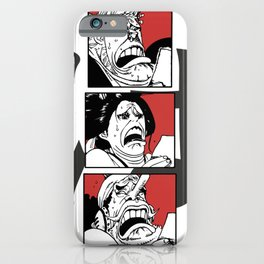 One Piece Ha Robin Usopp Franky Reaction iPhone Case