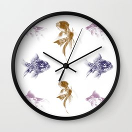 fractal fishes Wall Clock
