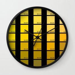 Shades of Yellow Pantone Wall Clock