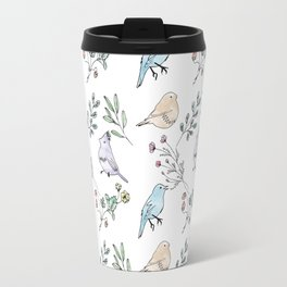 Watercolour birds Travel Mug