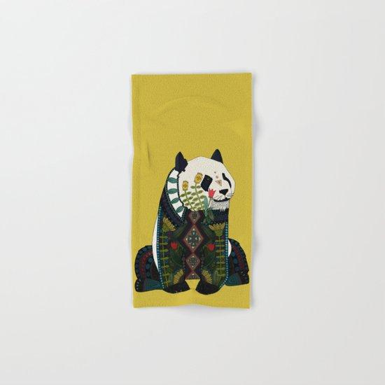 panda ochre Hand & Bath Towel