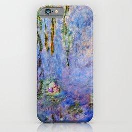Claude Monet famous artwork Water Lilies - France iPhone Case