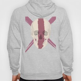 Skull with bloody streak on his face Hoody