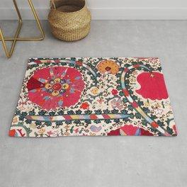 Lakai Suzani Uzbekistan Central Asian Embroidery Print Rug