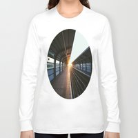 jewish Long Sleeve T-shirts featuring The light at the end of the tunnel by Brown Eyed Lady