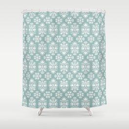 Vintage Floral Damask Shower Curtain