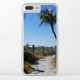 Captiva Island Beach Access Clear iPhone Case