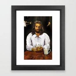 Coffee With Jesus Framed Art Print