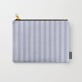 Gray blue simple stripes . Carry-All Pouch