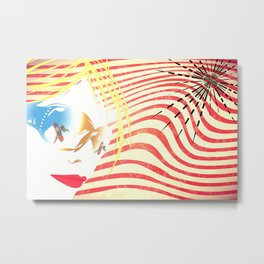 Sunglass Girl Metal Print