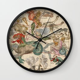 Constellations Andromeda, Pegasus, Cetus and Aries Wall Clock