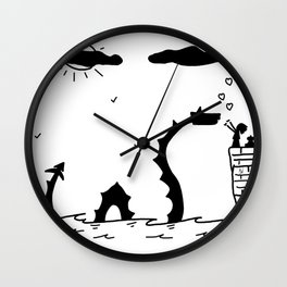 Little Sea Monster Wall Clock