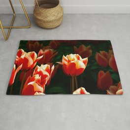 Sunshine And Orange Tulips Rug