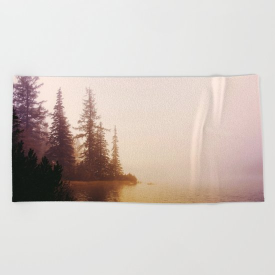 Sunset at Lake Beach Towel