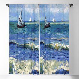 Vincent van Gogh Seascape Blackout Curtain