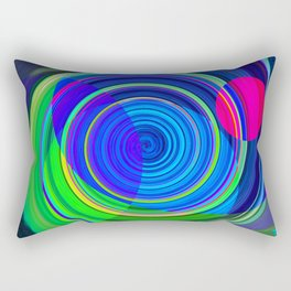 Re-Created Spiral Painting III by Robert S. Lee Rectangular Pillow