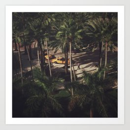 Miami from Above Art Print