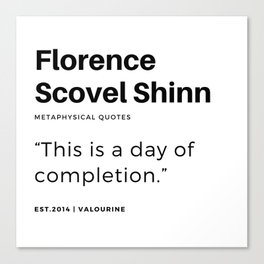 48    | Florence Scovel Shinn Quotes | 200126 Canvas Print