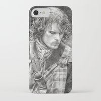 outlander iPhone & iPod Cases featuring James Fraser by ellaine