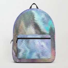 Vibrating Glitch Pastels Backpack