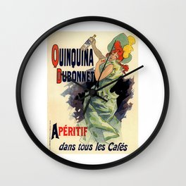 Belle Epoque vintage poster, Quinquina Wall Clock