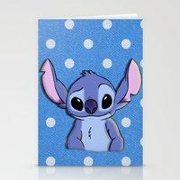 lilo and stitch Stationery Cards featuring Lilo and Stitch - Stitch by Julia Kolos