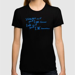 Live Like You Are Dying Scribbled Inspirational T-shirt