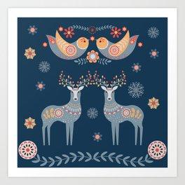 Nordic Winter Blue Art Print