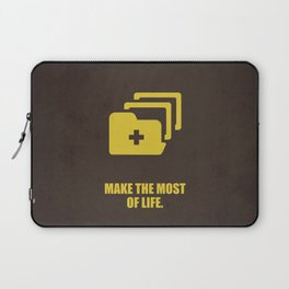 Lab No. 4 - Make The Most Of Life Corporate Start-up Quotes Poster Laptop Sleeve