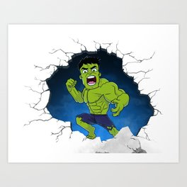 Chibi Hulk Smash! Art Print