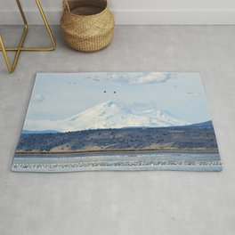 Mt Shasta and Waterfowl Rug
