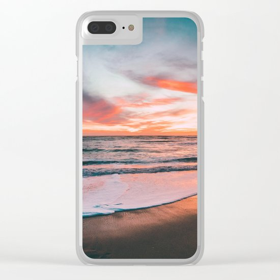 Sunset sky sea Clear iPhone Case