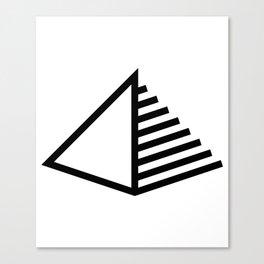 Pyramid Icon Logo Canvas Print