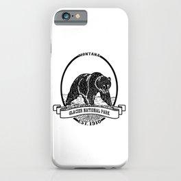 Glacier National Park Emblem iPhone Case