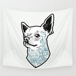 Tattooed Chihuahua Wall Tapestry