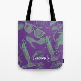 FASHION STYLE PURPLE AND GREEN Tote Bag