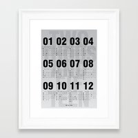 calendar 2015 Framed Art Prints featuring CALENDAR ῀˄.῀ by SAOS // DESIGN