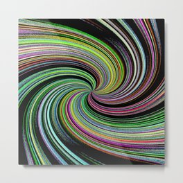 Abstract Colorful Twirl Metal Print