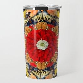 Persian carpet butterflies Travel Mug