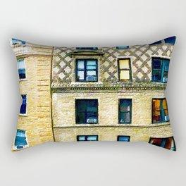New York City Apartment Building Rectangular Pillow
