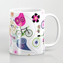 Cycledelic White Coffee Mug