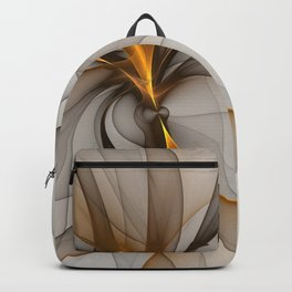 Elegant Chaos, Abstract Fractal Art Backpack