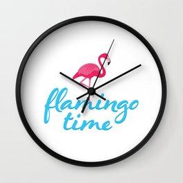 Flamingo time Wall Clock