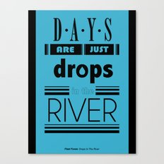 Drops In The River Canvas Print