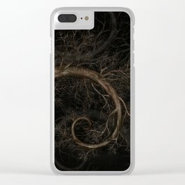 Golden spiral Tree #1 Clear iPhone Case